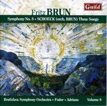 Fritz Brun (1878-1959): Symphonien Nr.8, CD