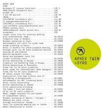 Aphex Twin: Syro, CD