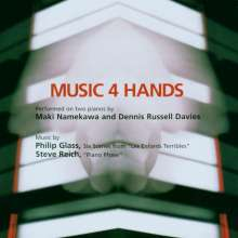 Philip Glass (geb. 1937): Music 4 Hands, CD