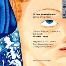 Peter Maxwell Davies (1934-2016): Geistliche Chorwerke, CD