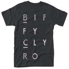 Biffy Clyro: Blocks Logo [Black,L], T-Shirt