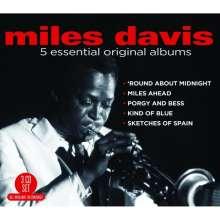 Miles Davis (1926-1991): 5 Essential Original Albums, 3 CDs