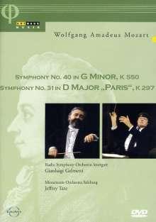 Wolfgang Amadeus Mozart (1756-1791): Symphonien Nr.31 & 40, DVD