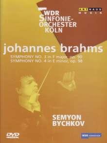 Johannes Brahms (1833-1897): Symphonien Nr.3 & 4, DVD