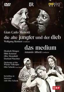 Gian-Carlo Menotti (1911-2007): Die alte Jungfer und der Dieb (in dt.Spr.), DVD