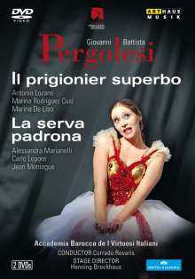 Giovanni Battista Pergolesi (1710-1736): Il Prigionier Superbo & La Serva Padrona, 2 DVDs