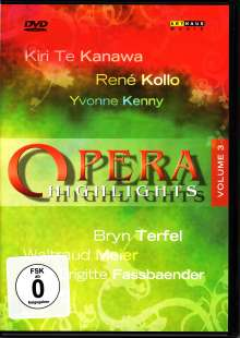 Opera Higlights Vol.3, DVD