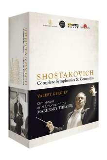 Dmitri Schostakowitsch (1906-1975): Sämtliche Symphonien und Konzerte, 8 DVDs