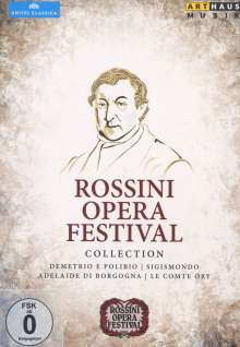 """Gioacchino Rossini (1792-1868): 4 Gesamtopern """"Rossini Opera Festival"""", 6 DVDs"""