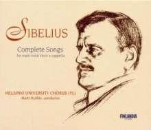 Jean Sibelius (1865-1957): Sämtliche Werke für Männerchor, 2 CDs