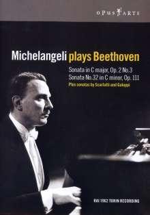 Michelangeli plays Beethoven, DVD