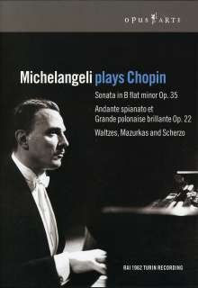 Arturo Benedetti Michelangeli plays Chopin, DVD
