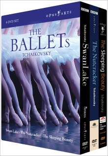 Peter Iljitsch Tschaikowsky (1840-1893): The Ballets, 4 DVDs