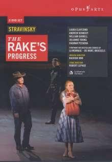 Igor Strawinsky (1882-1971): The Rake's Progress, 2 DVDs