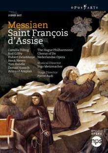Olivier Messiaen (1908-1992): Saint Francois d'Assise, 3 DVDs