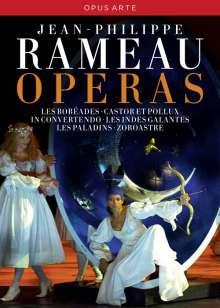 Jean Philippe Rameau (1683-1764): 5 Opern-Gesamtaufnahmen (DVD), 11 DVDs