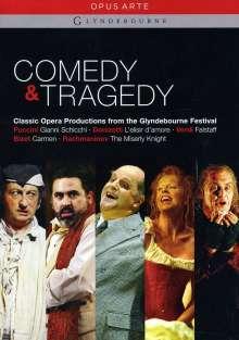 Glyndebourne - Comedy & Tragedy (5 Operngesamtaufnahmen), 6 DVDs