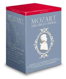 Wolfgang Amadeus Mozart (1756-1791): The Great Operas (7 Operngesamtaufnahmen), 13 DVDs