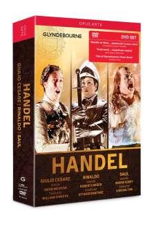Georg Friedrich Händel (1685-1759): 3 Opern-Gesamtaufnahmen (Glyndebourne), 5 DVDs