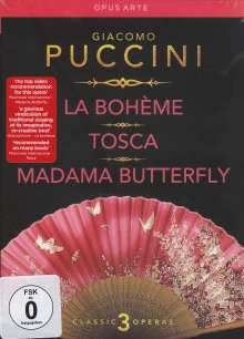 Giacomo Puccini (1858-1924): 3 Opern-Gesamtaufnahmen, 6 DVDs