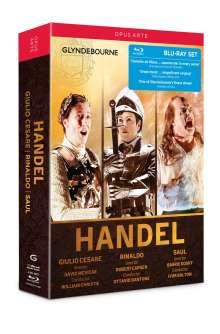 Georg Friedrich Händel (1685-1759): 3 Opern-Gesamtaufnahmen (Glyndebourne), 4 Blu-ray Discs