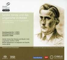 Sandor Veress (1907-1992): Streichquartette Nr.1 & 2, 3 SACDs
