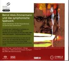 "Bernd Alois Zimmermann (1918-1970): Cellokonzert (en forme de ""pas de trois""), 3 SACDs"