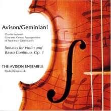 Charles Avison (1709-1770): Concerti grossi Nr.1-12 nach Francesco Geminianis Sonaten für Violine & Bc op.1, 2 CDs