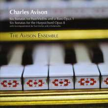 Charles Avison (1709-1770): Sonaten für 2 Violinen & Bc op.1 Nr.1-6, 2 CDs