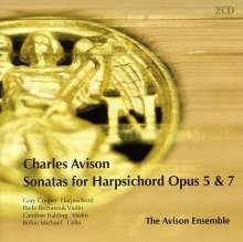 Charles Avison (1709-1770): Sonaten für 2 Violinen,Cello & Cembalo opp.5 & 7, 2 CDs
