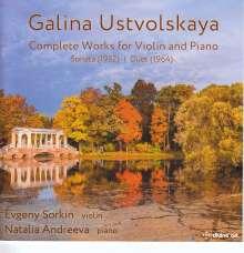 Galina Ustvolskaya (1919-2007): Sämtliche Werke für Violine & Klavier, CD