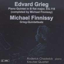Edvard Grieg (1843-1907): Klavierquintett B-Dur (vervollständigt von Michael Finnissy), CD