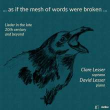 Clare Lesser - ... as if the mesh of words were broken ..., CD