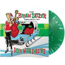 Brian Setzer: Boogie Woogie Christmas (180g) (Limited Edition) (Green/White Splatter Vinyl), LP
