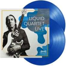 Michael Landau: Liquid Quartet Live (180g) (Limited Edition) (Transparent Blue Vinyl), 2 LPs