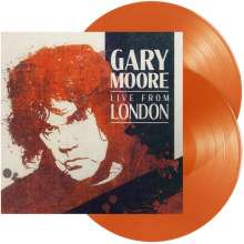 Gary Moore: Live From London (180g) (Orange Vinyl) (Limited Edition), 2 LPs