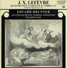 Jean Xavier Lefevre (1763-1829): Klarinettenquartette Nr.1-4, CD