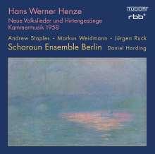 """Hans Werner Henze (1926-2012): Kammermusik 1958 über die Hymne """"In lieblicher Bläue"""" für Tenor, Gitarre & 8 Soloinstrumente, CD"""