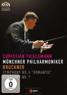 Anton Bruckner (1824-1896): Symphonien Nr.4 & 7, DVD