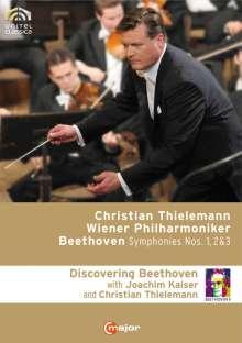 Ludwig van Beethoven (1770-1827): Discovering Beethoven (Symphonien Nr.1-3), 3 DVDs