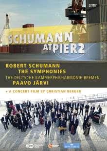 Robert Schumann (1810-1856): Robert Schumann at Pier2 (Symphonien Nr.1-4 & Konzertfilm), 3 DVDs