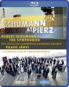 Robert Schumann (1810-1856): Robert Schumann at Pier2 (Symphonien Nr.1-4 & Konzertfilm), Blu-ray Disc