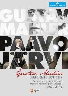 Gustav Mahler (1860-1911): Symphonie Nr. 3 & 4, 2 DVDs
