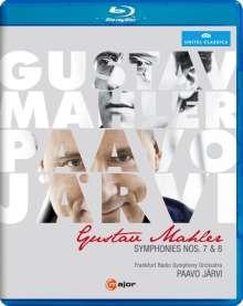 Gustav Mahler (1860-1911): Symphonien Nr.7 & 8, Blu-ray Disc