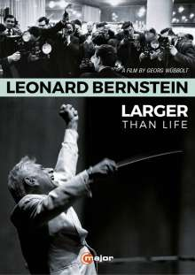 Leonard Bernstein (1918-1990): Leonard Bernstein - Larger Than Life (Dokumentation), DVD