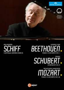 Andras Schiff - Beethoven / Schubert / Mozart, DVD