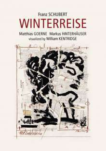 Franz Schubert (1797-1828): Winterreise D.911 (Visualisiert von William Kentridge), Blu-ray Disc