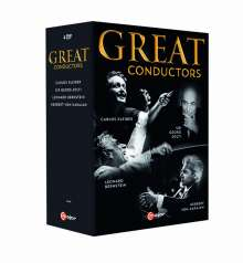 Great Conductors (Dokumentationen von Georg Wübbelt), 4 DVDs