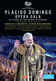 "Placido Domingo - Opera Gala ""50 Years at the Arena di Verona"", 2 DVDs"