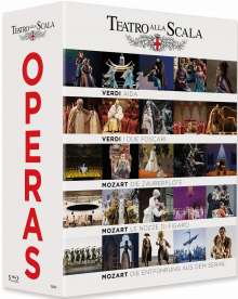 Teatro alla Scala Opera Box, 5 Blu-ray Discs